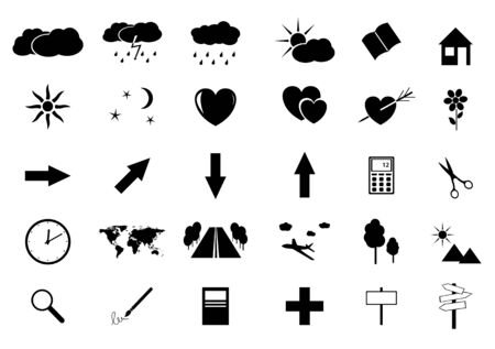 set of vector small icons Vector