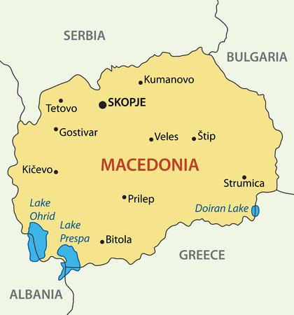 macedonia: Republic of Macedonia - vector map Illustration