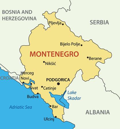 Montenegro - vector map