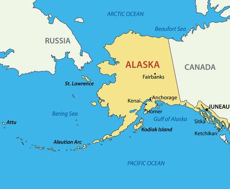 Alaska - vector kaart
