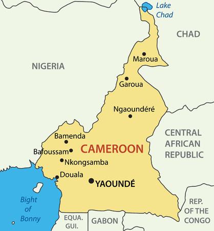 bonny: Republic of Cameroon - vector map