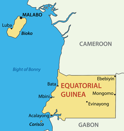 guinea: Republic of Equatorial Guinea - vector map