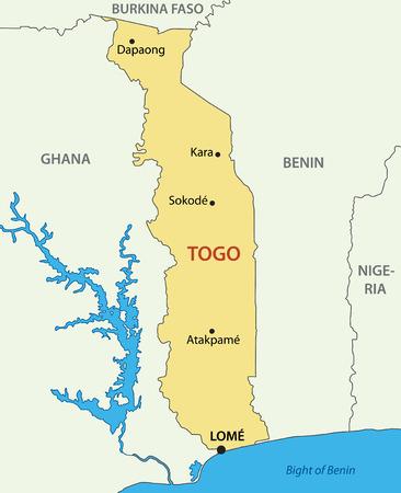 togo: Togo - Togolese Republic - vector map