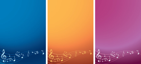 vector set - music backgrounds with notes Vector