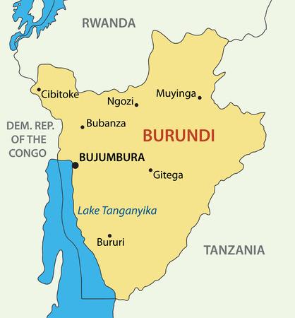 burundi: Republic of Burundi - vector map