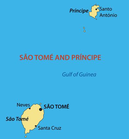 principe: Rep�blica Democr�tica de Santo Tom� y Pr�ncipe - vector mapa Vectores