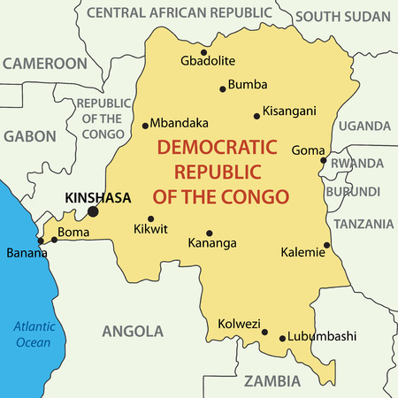 republic of the congo: Democratic Republic of the Congo - vector map Illustration