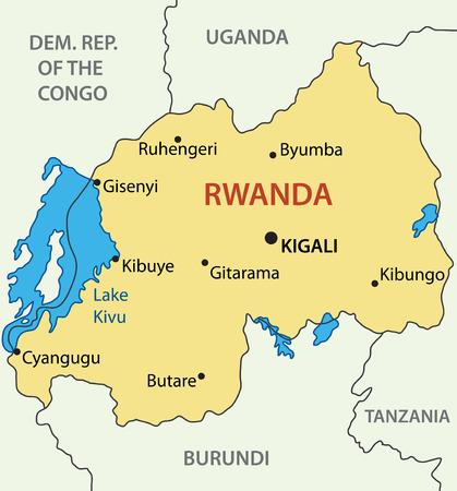 kigali: Republic of Rwanda - vector map Illustration