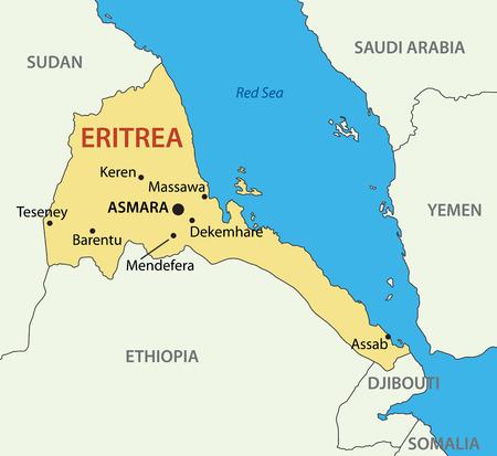 eritrea: State of Eritrea - vector map