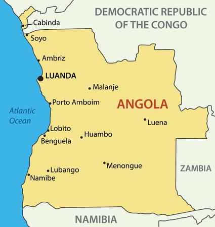 atlantic city: Republic of Angola - vector map Illustration