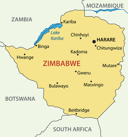 zimbabwe: República de Zimbabwe - mapa vectorial