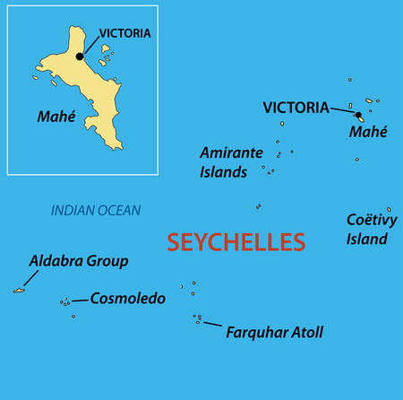 seychelles: Republic of Seychelles - vector map