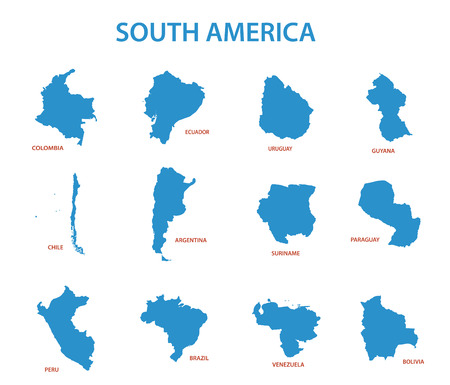 map of argentina: south america - vector maps of countries Illustration