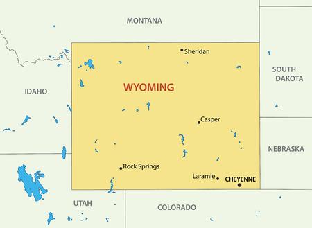 cheyenne: Wyoming - vector map Illustration