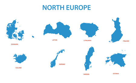 territories: north europe - vector maps of territories
