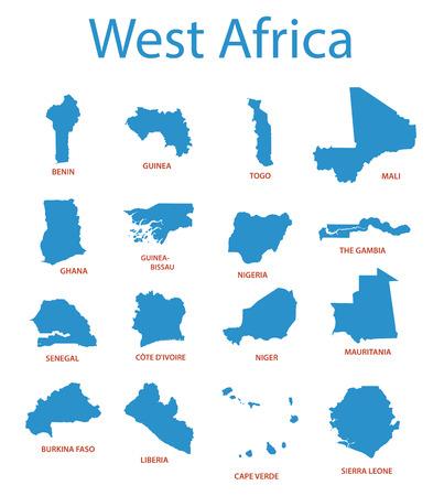 territories: west africa - vector maps of territories