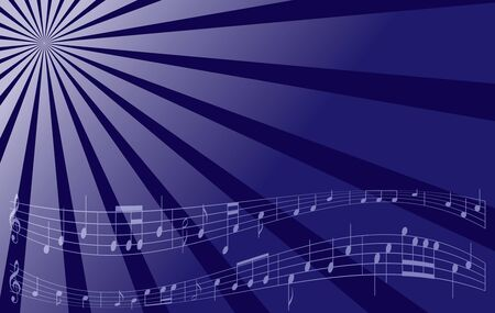 melodic: violet vector music background