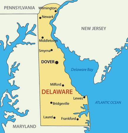 delaware: Delaware - vector map