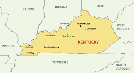 commonwealth: Commonwealth of Kentucky - vector map Illustration