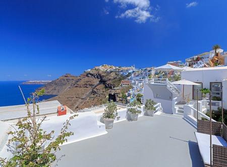 santorini island: Santorini island in Greece. Caldera summer sunny