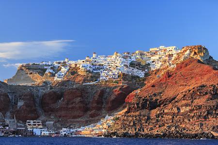 caldera: Santorini island in Greece. Caldera summer sunny