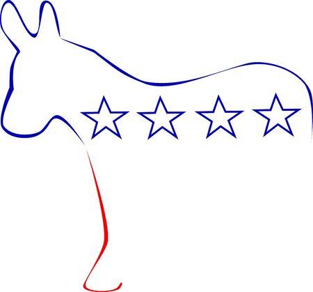 political rally: Stylized symbol of democrats