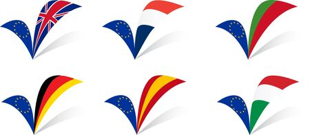 European Union Countries flags set I