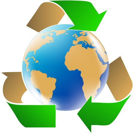 recycle logo: Save the World