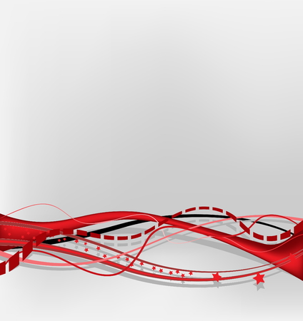Abstract background - red theme Illustration