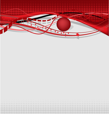 Abstract background - eye style in red theme