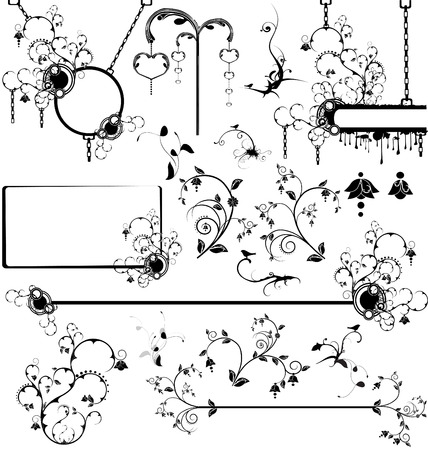 Set of various design elements and banners Ilustrace