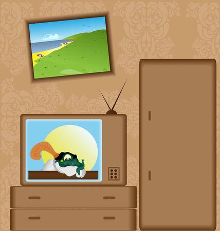 tvset: Cartoon with TV-set