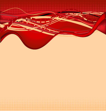 Abstract background in red theme