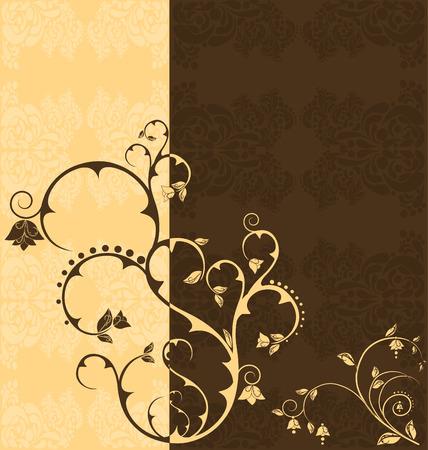 Duo tone floral wallpaper Illustration