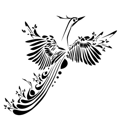 Fancy bird Vector