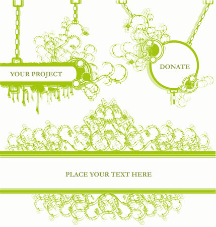 Set of vaus design elements and banners Stock Vector - 4978096