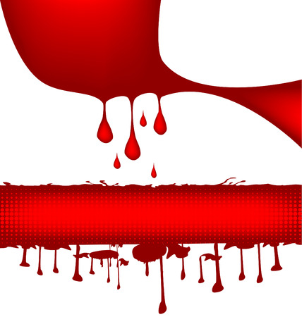 blood stains: Bloody banners with blood drops, vector illustration