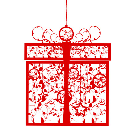 Stylized gift box, vector illustration Ilustrace