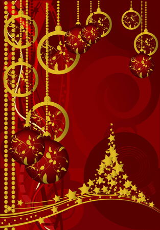 Merry Christmas and Happy New Year Stock Vector - 5467643