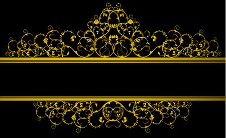 Luxury decorative banner in baroque style