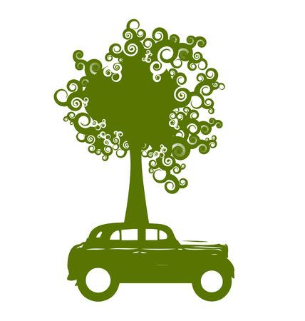Ecology car Ilustrace