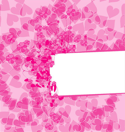 background with hearts Stock Vector - 6280529