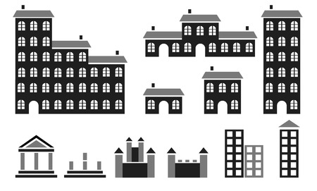 Buildings silhouettes Stock Vector - 6280517