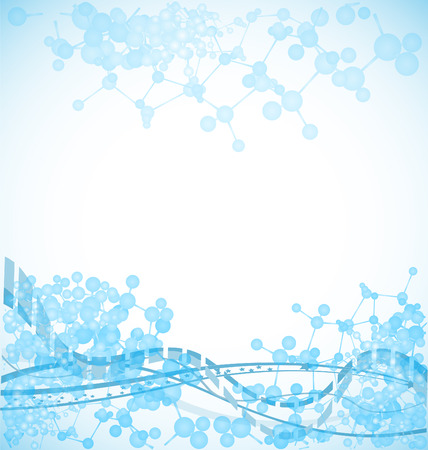scientific: science background with bulky molecules, illustration