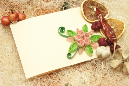 Stylish desing with invitation card and lemons