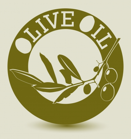Stylized olive label, vector illustration Vector
