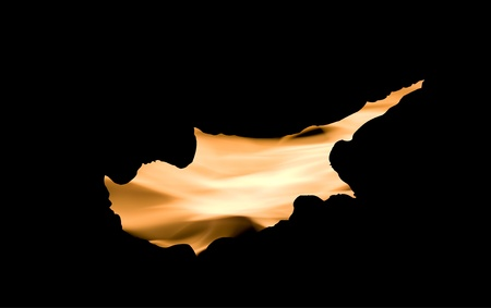 anthem: Cyprus under fire over black background