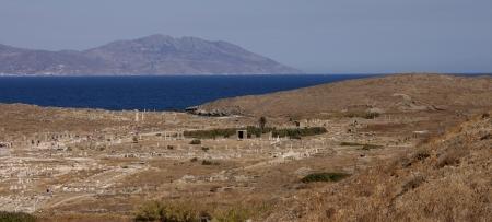 antica grecia: museo a cielo aperto sull'isola di Delos, Grecia