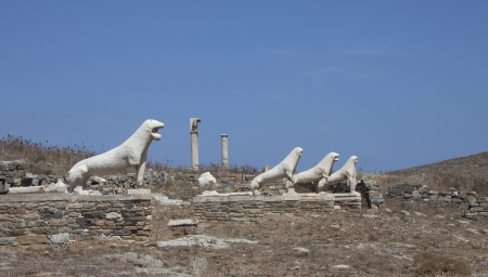 open air museum on Delos island, ancient Greece