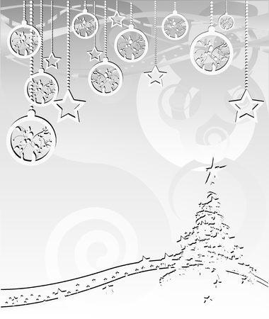 Merry Christmas and Happy New Year, vector illustration